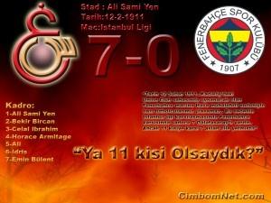 Galatasaray 7 : 0 Fenerbahçe Galibiyeti Resmi