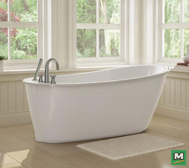 Renew Your Bathroom With A MAAX® Sax Freestanding Fiberglass Bathtub.  Available In Four Color Options (Aqua, Platinum Grey, Ruby U0026 White), This  Chic Tub ...