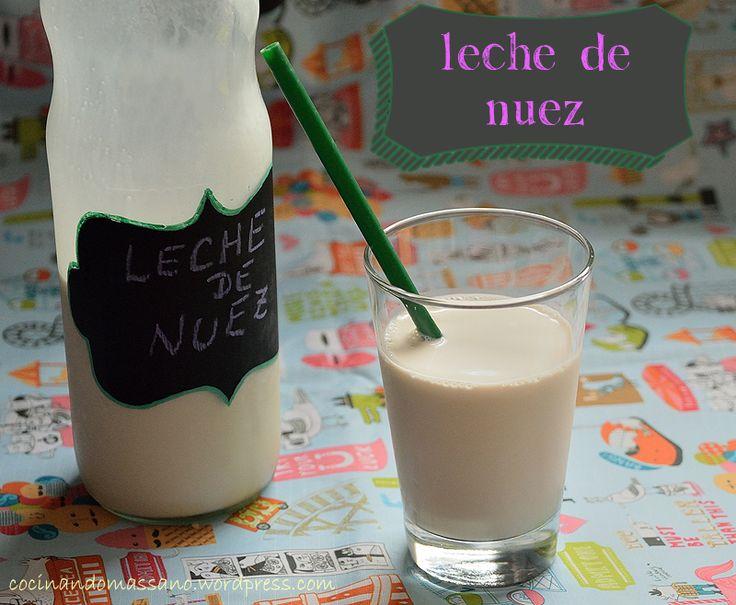 Como preparar leche de nuez