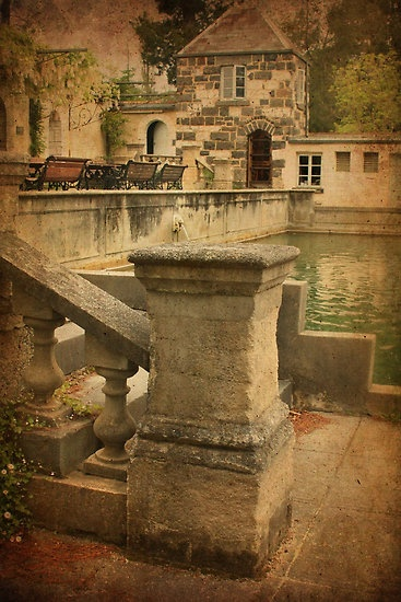 Pillar and Pool, Montsalvat by Angie Muccillo