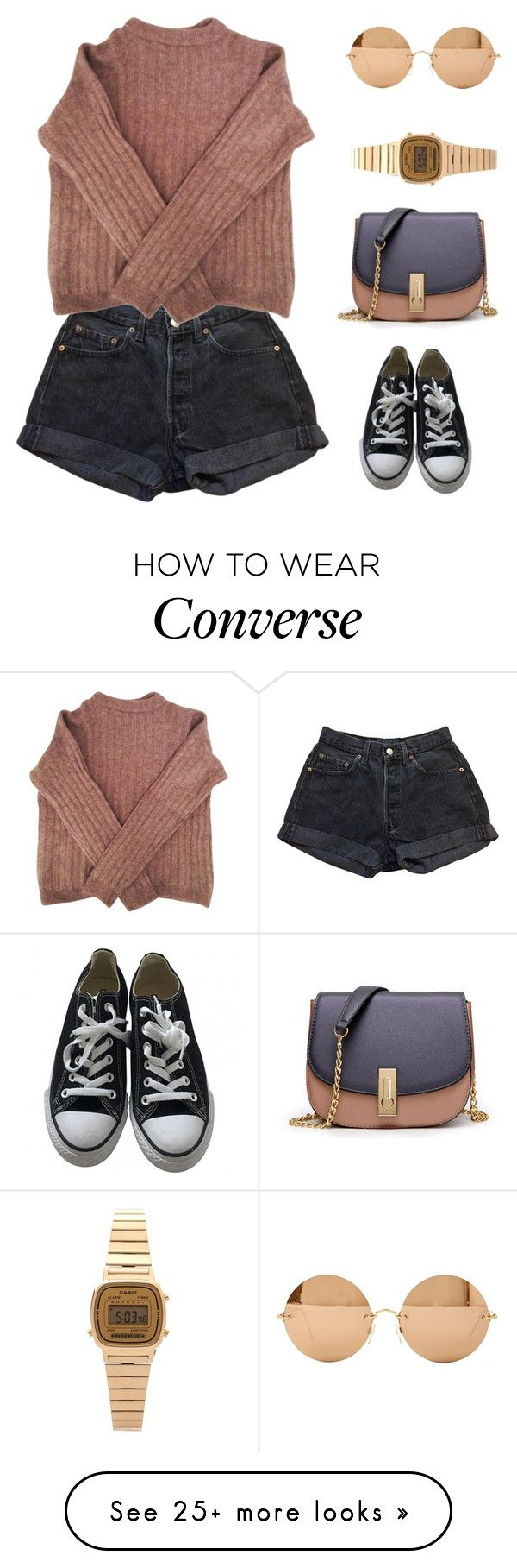 """""""Your Time Is Running Out"""" by mariposa-fashion-21 on Polyvore featuring Levi's, Converse, Victoria Beckham, Acne Studios, WithChic and Casio"""