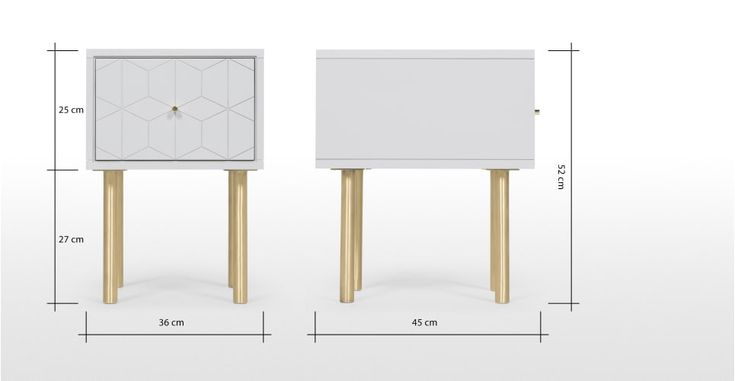 Best Hedra Bedside Table Grey And Brass Blue Bedside Tables 400 x 300