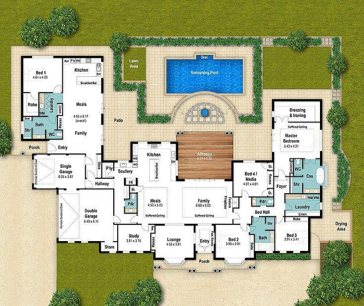 Single Storey House Floor Plan The Fairbridge By Boyd Design Perth Homeflooringideas Country House Floor Plan Country Floor Plans Floor Plans