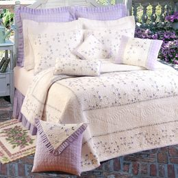 Lavender Trellis Bedding By C & F Bedding