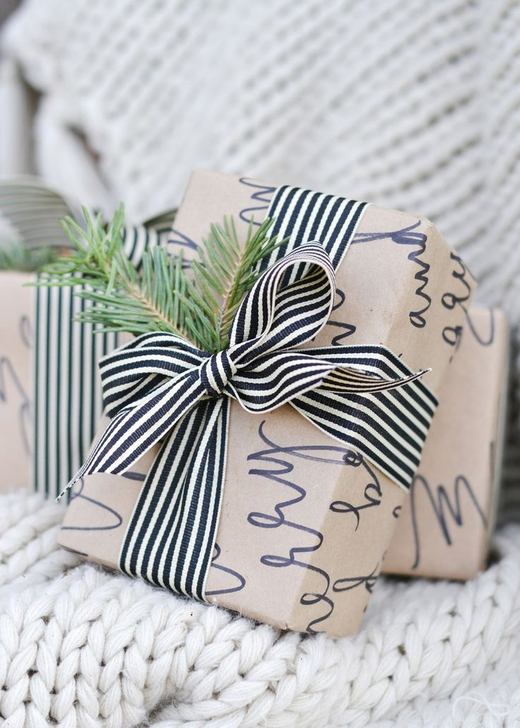 Best 25 wrapping paper crafts ideas on pinterest diy christmas diy calligraphy wrapping paper negle Images