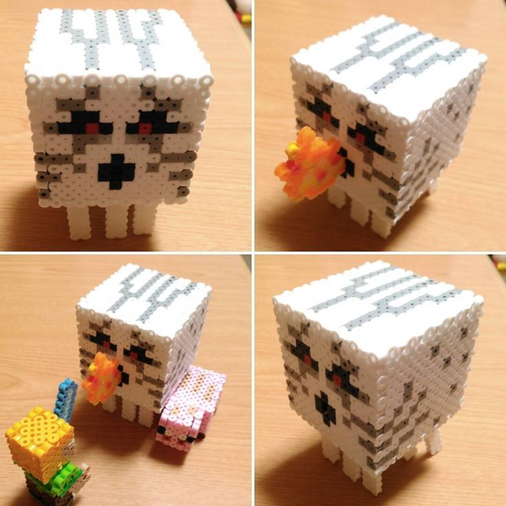Ghast Minecraft perler beads by shena_1983
