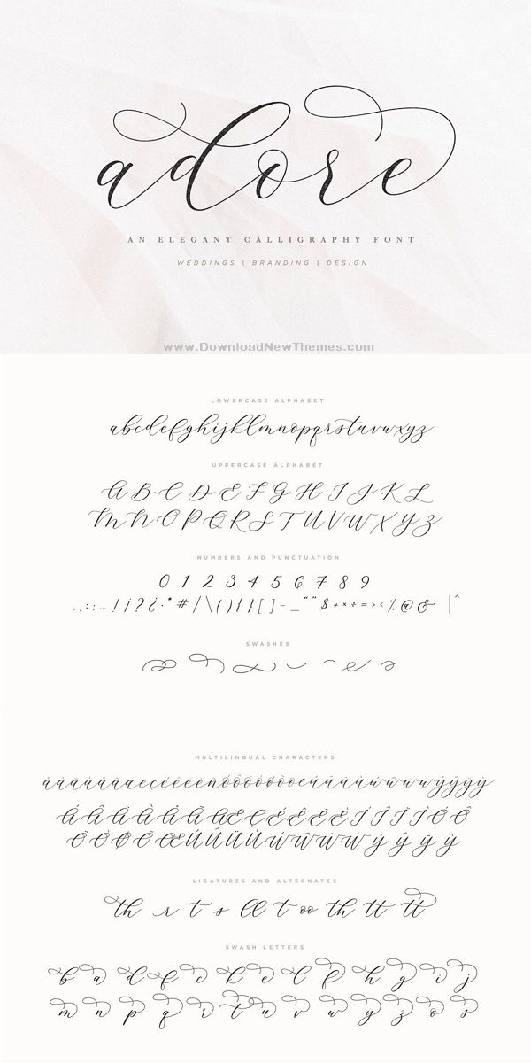 Adore Calligraphy Font Calligraphy Fonts Hand Lettering Fonts Modern Calligraphy Fonts