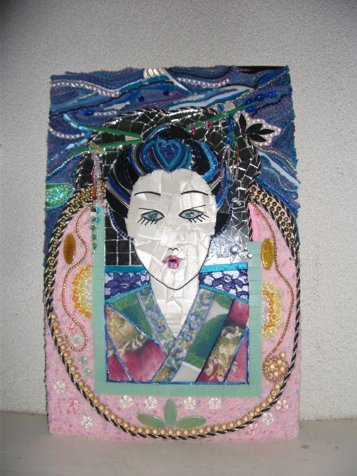 geisha ,gemaakt van allerlei materialen