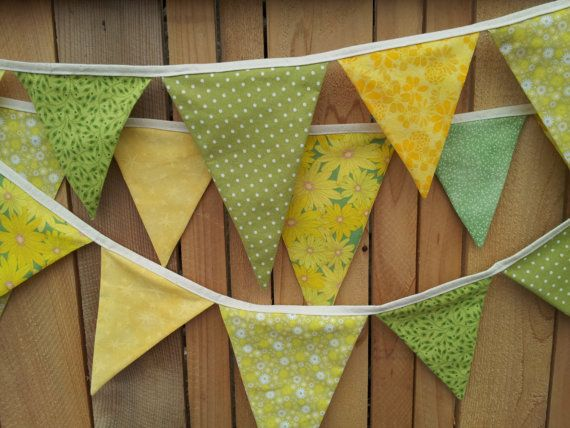green flag with yellow