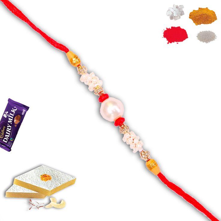 #Fancy #pearl #bead #rakhi www.rakhistoreonl... @rakhistore