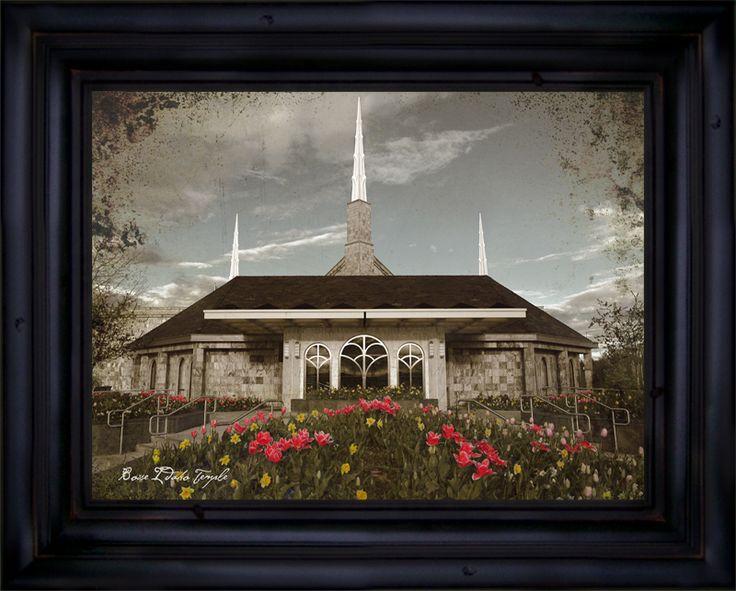 LDS Art Co - Boise Temple, Front Color Personalized, $174.95 (http://www.ldsartco.com/boise-temple-front-color-personalized/)