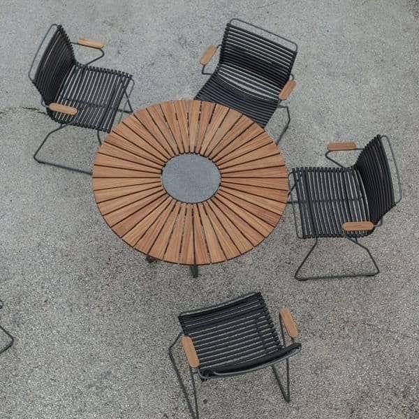 Table Ronde Circle Bambou Et Granit Acier Outdoor Acier Bambou Circle Granit Outdoor Ronde Table Granit Esstisch Esstisch Modern Couchtisch Marmor