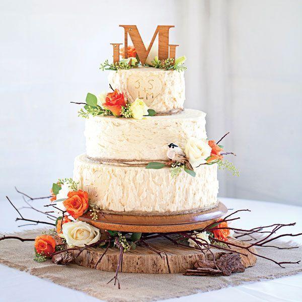 Rustic Buttercream Fall Wedding Cake Ideas - Deer Pearl Flowers