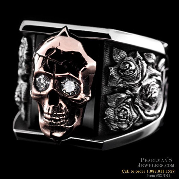 NightRider silver roses ring