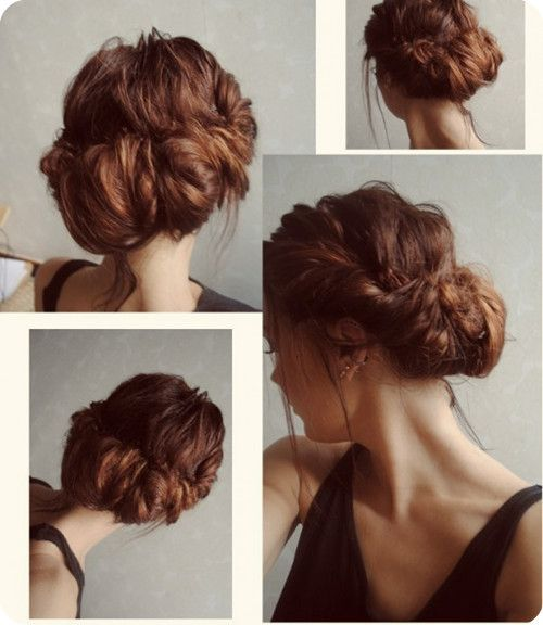 Super 1000 Images About Medium Hair Styles On Pinterest Updo Braided Short Hairstyles Gunalazisus
