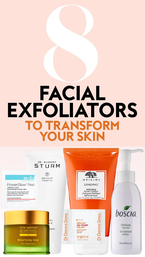 Best Face Exfoliators Exfoliate Face Back Acne Treatment