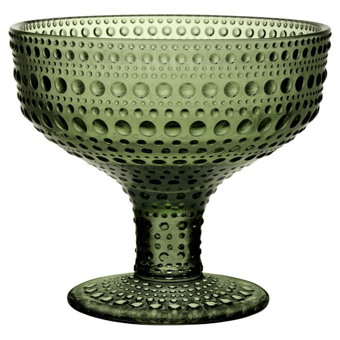 Ittala Melodie Footed Bowl in Forest Green