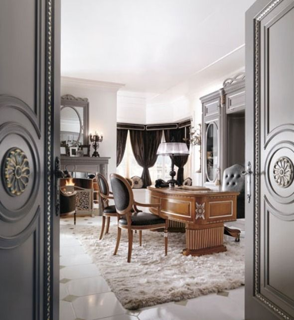 Executive Home Office Design Ideas: 21 Best Images About Luxurious Living (HOME OFFICE) On