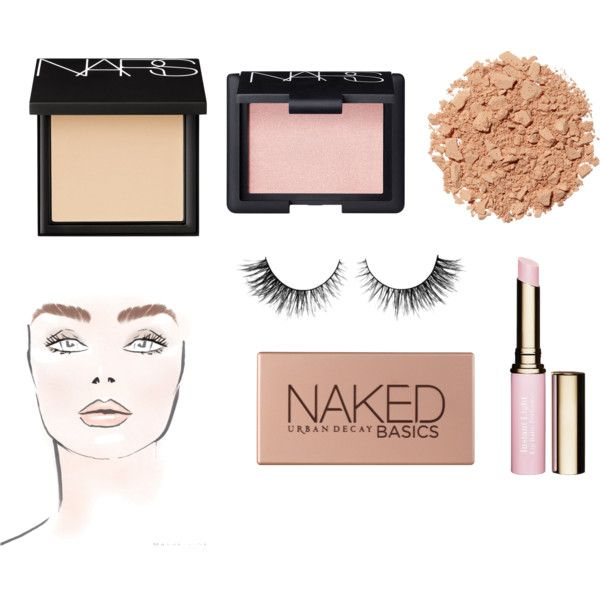 female by saintlorance on Polyvore featuring beauty, NARS Cosmetics, Urban Decay, Illamasqua and Clarins