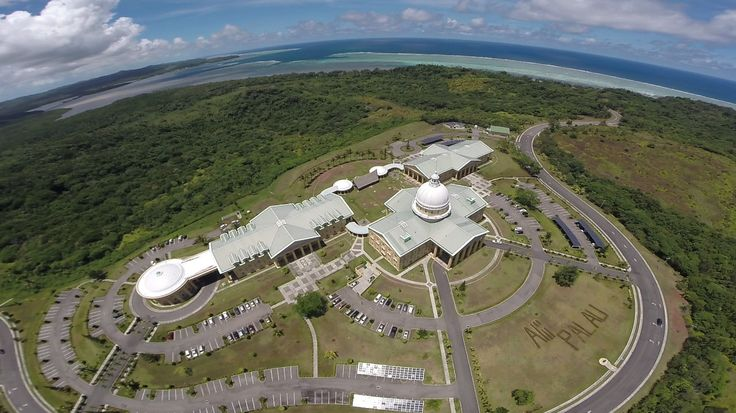 Drone Photos - Melekeok Capital Building, Palau