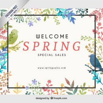 Floral facebook post
