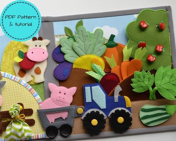 Sewing kit for FARM Quiet book from UmkaFeltBook DIY Craft Kit Set of supplies