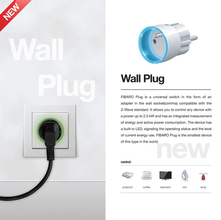 Fibaro Z-Wave tussenstekker met energiemeter en LED ring. Ook te verkrijgen bij http://allsmart.nl