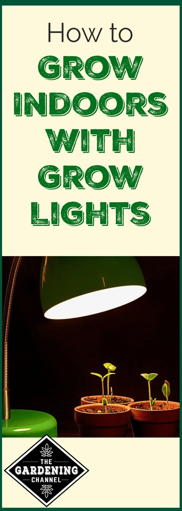 How to use grow lights to garden in the winter indoors. Learn what kind of light to use and which plants will flourish.