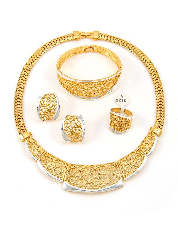 Wholesale High end African costume jewelry set from China
