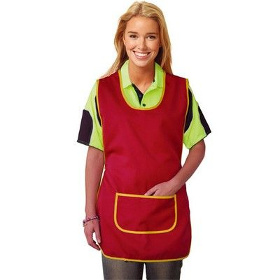 Women's Smock-Frock Min 25  #Apron #PromotionalProducts - Polyester Viscose Gaberdine Twill Fabric with Front Pocket.   http://www.promosxchange.com.au/womens-smockfrock/p-9582.html