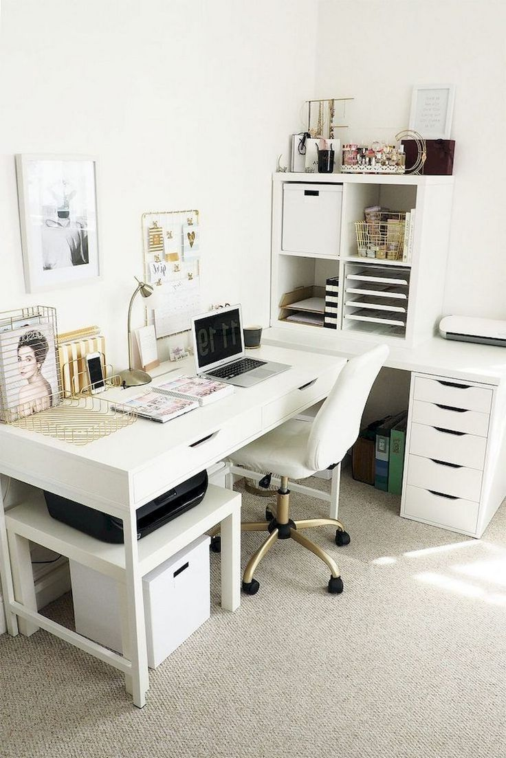 18 Top Inspiring Home Office Decorating Ideas  18 Top Inspiring Home Office Deco… #Schreibtisch Organisation