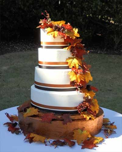wedding cake fall colors 48 best images about fall wedding cakes on 22591