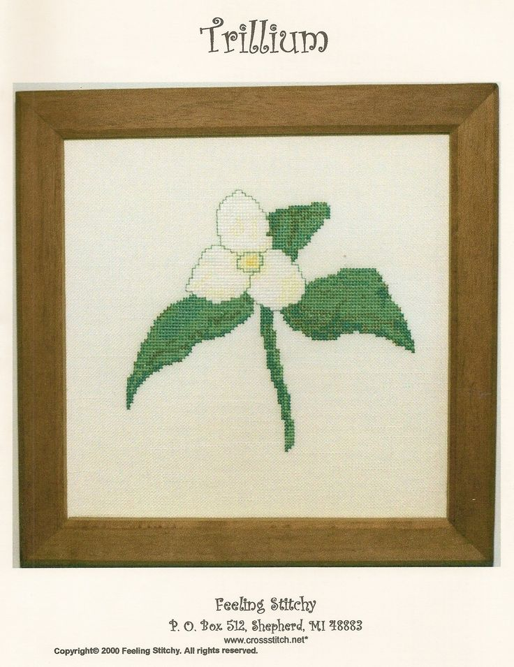 Trillium. I published my designs under the name Feeling Stitchy. Now they are just by Jean Bess.