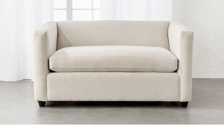 Movie Birch Ivory Twin Sleeper Sofa | CB2