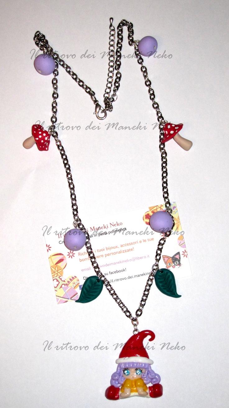 Collana #handmade in #fimo di #memole
