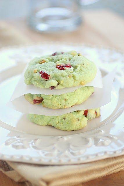 DESSERT : Cookie pistache framboise