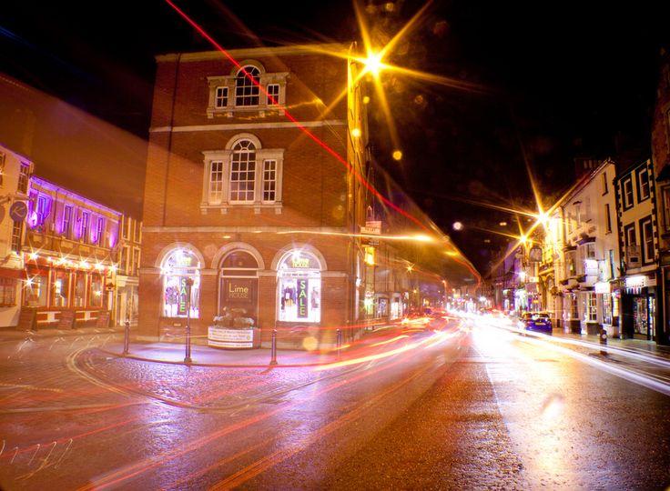 Market Harborough at night