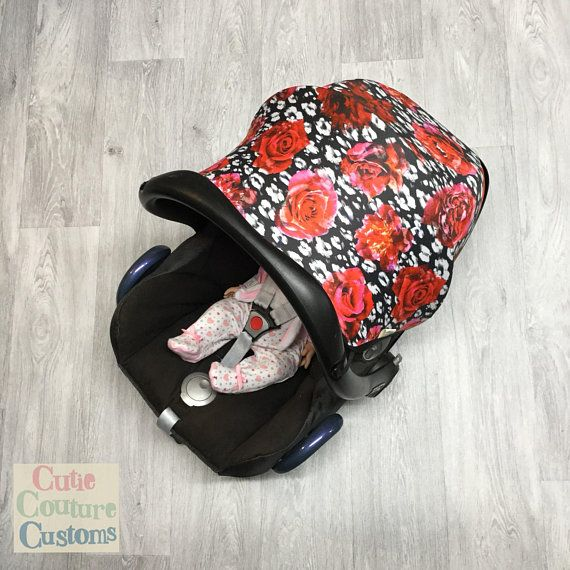 #Carseat Hood - Baby Sun Cover - Maxi Cosi Cabriofix Car Seat Canopy - Car Seat #Sunshade - Sun #Canopy - Newborn #Capsule - Infant Carrier Hood My cute car seat replacement hoods & accessories make for a funky, unusual & practical gift idea for a baby shower, new baby or a treat to yourself! Bright and fun accessories that will compliment any newborn baby car seat.  Lovingly handmade by me, using only the best digitally printed stretch fabric. This fabric has been tested and rated UPF50+
