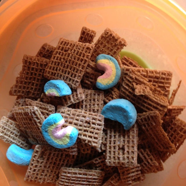 Lucky Shreddies for my son - who likes the marshmallows from Lucky Charms, but not the cereal part.