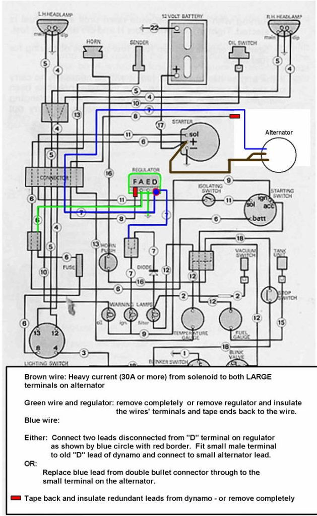 David Brown Alternator Wiring Diagram Wiring Diagrams The David Brown Tractor Club For All Amp Gauge Wiring T Alternator Case Tractors International Tractors