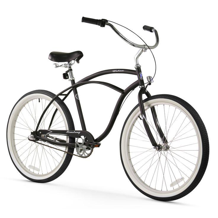 "26"" Firmstrong Urban Man Three Speed Beach Cruiser Bicycle, Matte"