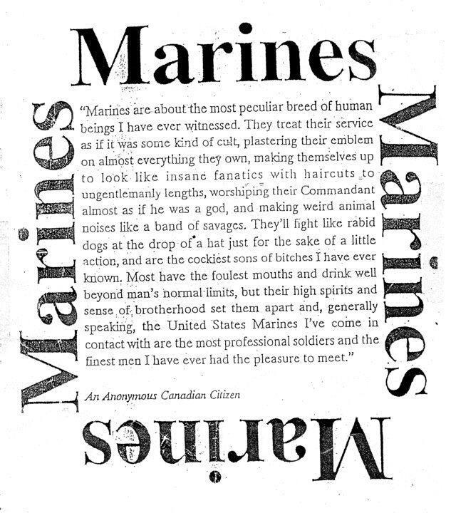 "Marines are just plain awesome in every way! ""Proud wife"" ;))"