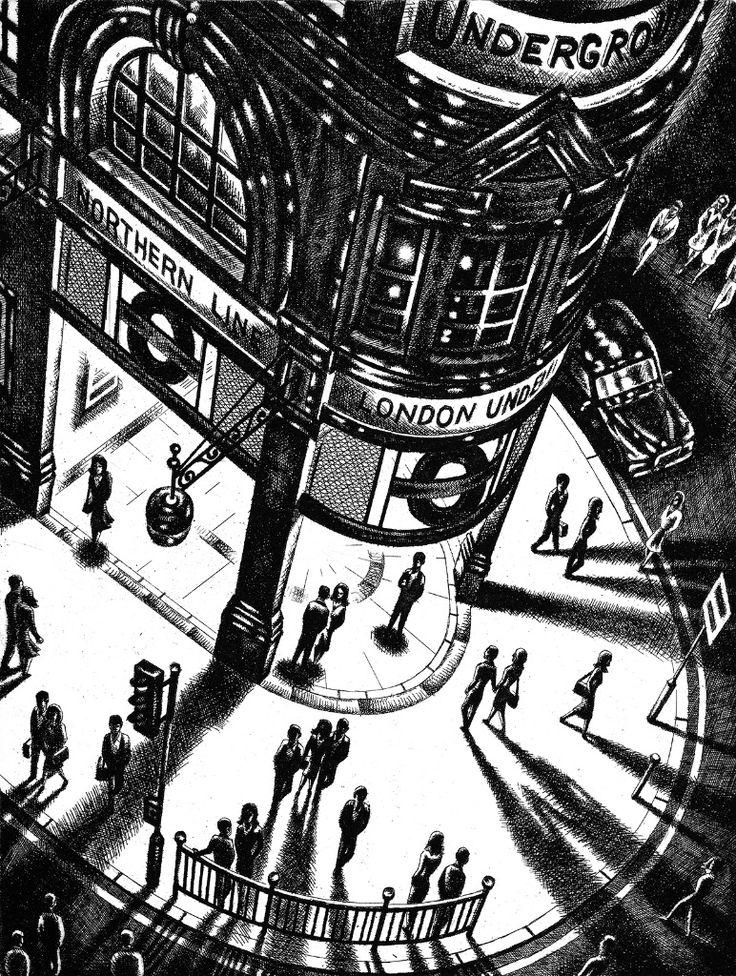 John Duffin 'Tube Shadows' etching http://www.stjudesprints.co.uk/collections/john-duffin