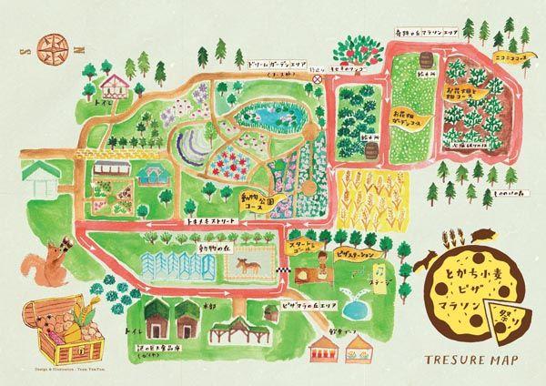 ヤムヤム旅新聞 » とかち小麦ピザマラソン祭り マラソン&宝探しマップ