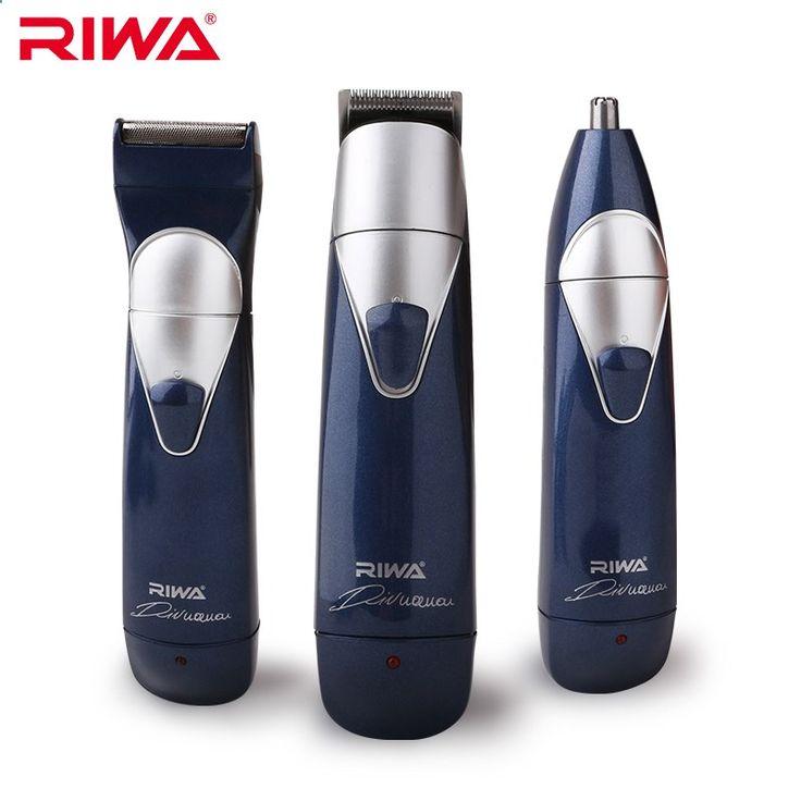 Hair Trimmer - RIWA 3 en 1 Tondeuse Kits 3 Têtes (cheveux Clipper   Nez Trimmer   Électrique Rasoir) multifonctionnel Cheveux Tondeuses Pour Hommes RE-550A