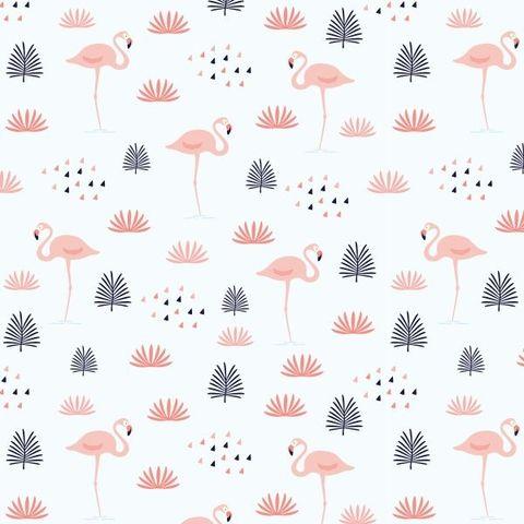 Papel de Parede Flamingo Cores Claras - comprar online