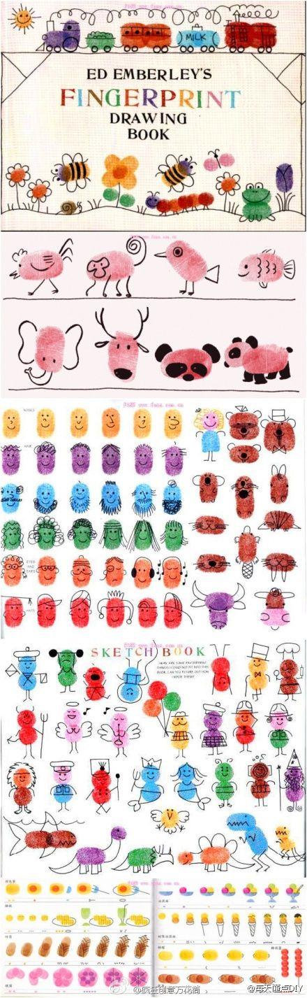 рисунки отпечатками пальцев