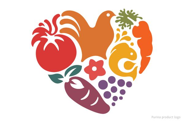 Purina pet food product logo.... Looks so like the unilever logo! Interesting!  on the Behance Network