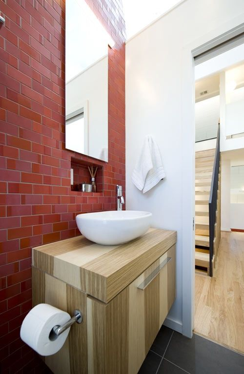 Itu0027s Not Often That You See Red Bathroom. Red Tile Is Chosen By Brave And