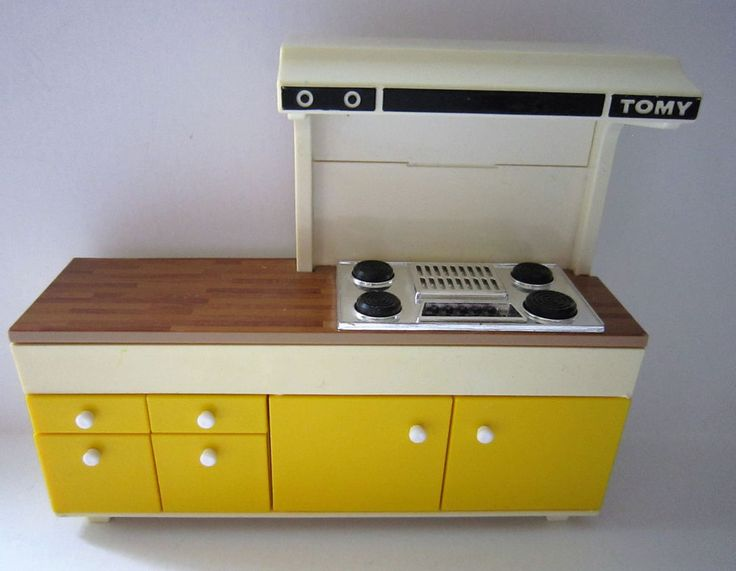 vintage tomy dollhouse kitchen furniture stove range